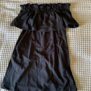 NWT H&M Black Strapless Dress